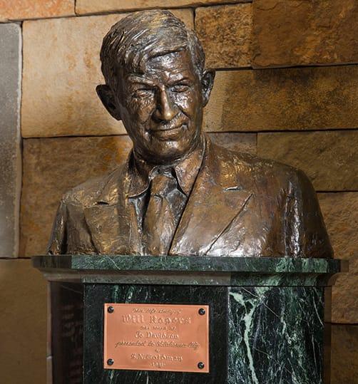 Will Rogers Head Statue
