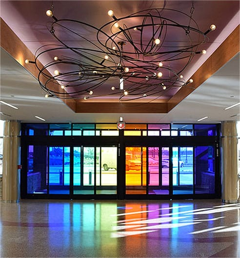 World Rogers World Airport Art Installation