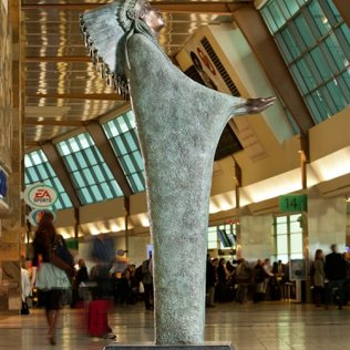 Prayer Sculpture at Will Rogers World Airport