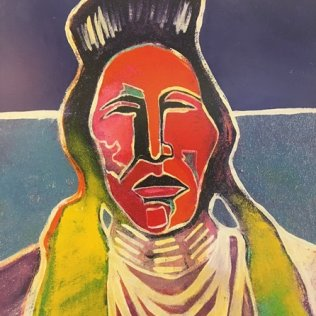 UNTITLED, By Brent L. Learned (Haa-Naa-Jaa-Ne-Doa), 1999, Cheyenne/Arapaho Nation, Lithograph