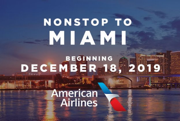 nonstop flight on american airline to miaimi